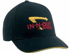 In-n-Out Burger Baseball Sports Cap by in-n-out. $9.95. Black Cap with in-n-out Logo. Adjustable Velcro Closure. This is a branded item manufactured by in-n-out. We received just over 200 of these caps as a close-out. All are new and without any defect. Sells on the in-n-out site for $12.95 plus shipping. We are offering these for $8.84 with free shipping while supplies last.