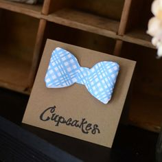 Custom Set of 10 Bows / Bow Ties for Baby Shower, Birthday Party, or Wedding Place Cards, Favor Bags, Invitations Thank You Notes Cards