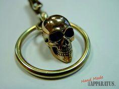 Suspension Key Hook / Keychain Skull por EdcApparatus en Etsy