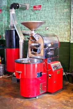 Roaster at Due South Coffee //  via Love Lola Blog, Taylors SC