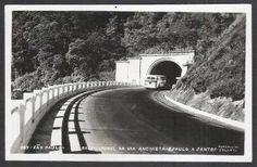 foto postal colombo 167 túnel via anchieta são paulo santos