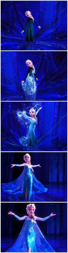 Did anyone else notice the top of Elsa's dress disappeared? Am I the first to notice this?