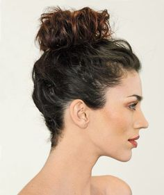 The High Bun: Somewhere between laid-back and ladylike, this look works on long or short hairstyles and is ideal for tucking away unruly bangs.