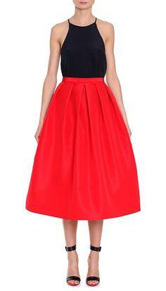 Tibi Silk Faille Full skirt. I love anything red!