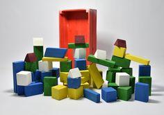 Shapes #1-4 Dimensions: ..... Box: wood 38x20x8.5 cm Materials: Wood