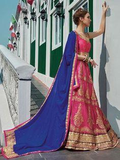 Pink Netted Circular Lehenga Online Choli Shoppings ,Indian Dresses - 1