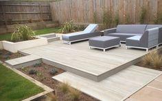 coole terrasse mit feuerplatz und gras garten pinterest gr ser terrasse und g rten. Black Bedroom Furniture Sets. Home Design Ideas