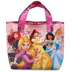 DISNEY STORE PRINCESS SWIM BAG  RAPUNZEL JASMINE BELLE MERIDA MORE *** Visit the image link more details.