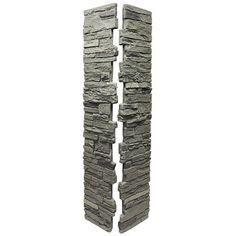 NextStone Slatestone Rundle Ridge 8 in. x 8 in. x 41 in. Faux Polyurethane Stone Deck Post Cover - The Home Depot Stone Deck, Stone Columns, Slate Stone, Faux Stone, Stone Panels, Porch Column Wraps, Front Porch Columns, Porch Pillars, Deck Posts