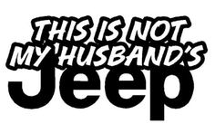 New Custom Screen Printed T-shirt This Is Not My Husbands Jeep