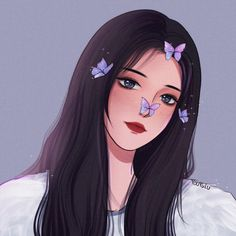 Anime Angel Girl, Anime Art Girl, Cartoon Girl Drawing, Girl Cartoon, Portrait Cartoon, Gothic Anime, Cute Profile Pictures, Cute Girl Wallpaper, Cartoon Art Styles