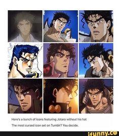 Jotaro Kujo without his hat Jojo Anime, All Anime, Anime Manga, Jojo's Bizarre Adventure Anime, Jojo Bizzare Adventure, Jojo's Adventure, Blue Exorcist, Cowboy Bebop, Inu Yasha