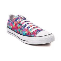 Make a pixelated impression with the awesome new All Star Lo Pixels Sneaker from Converse! Clear the way for these All Star Lo Pixels Chucks, featuring a sturdy canvas upper with vibrant pixel prints, and signature Converse rubber cap toe. <b>Only available at Journeys and SHI by Journeys!</b>  <br><br><u>Features include</u>:<br> > Low top style constructed with a sturdy canvas upper<br> > Lace-up closure<br> > Signature Chucks rubber cap toe offers protection and durability<br> > Converse…