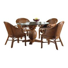 Bay Isle Home Cypress 5 Piece Dining Set Cushion Color: Patriot Birch