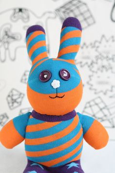 Handmade Large  Easter Bunny stuffed animal toys by Toyapartment, $19.50