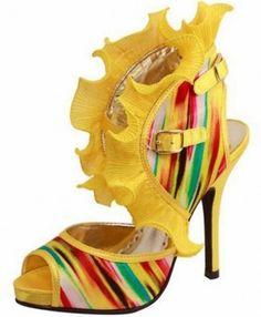 Urban Yellow Ruffled Pump | BadAzz Shoes