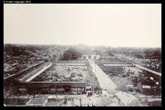 Looking towards the Forbidden City from city wall, Peking