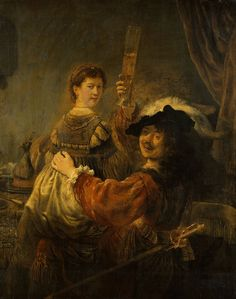 Rembrandt - Rembrandt and Saskia in the Scene of the Prodigal Son - Google Art Project - Rembrandt - Wikipedia, la enciclopedia libre