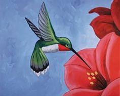 Social Artworking Canvas Painting Design - Hummingbird
