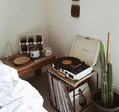 There is something so peaceful about listening to music on a Record Player.