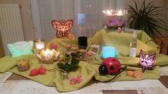 Printemps :)  Papillons, fleurs, coccinelle