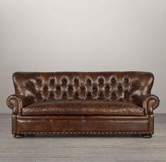 Churchill Leather Sofa with Nailheads Restoration Hardware Sectional, Restoration Hardware Cloud, Traditional Sofa, Leather Recliner, Leather Sofas, Sofa Sale, Living Room Sofa, Living Spaces, Interiors