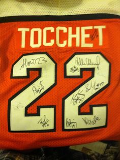 Philadelphia Flyers Rick Tocchet Jersey Autographed by 12 Players 3cdf3274e