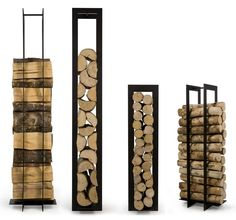 You want to build a outdoor firewood rack? Here is a some firewood storage and creative firewood rack ideas for outdoors. Firewood Holder, Firewood Storage, Range Buche, Log Holder, Into The Woods, Fireplace Accessories, Wood Burner, Home Living Room, Modern Furniture