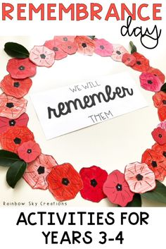 Check out these Remembrance Day activities to teach kids about the significance of this day. Teach them to commemorate with poppy crafts and other learning & reflective printables and worksheets {Grade Grade Year Year homeschool} Remembrance Day Activities, Veterans Day Activities, Literacy Activities, Spring Activities, Poppy Craft For Kids, Crafts For Kids, Creation Activities, Addition Activities, Harmony Day
