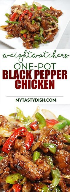 One-Pot Black Pepper Chicken - Come With 4 Weight watchers Freestyle Smart Points