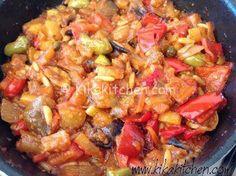 Caponata catanese con patate e peperoni