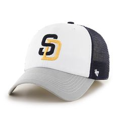 b56bd2108b66f San Diego Padres Mckinley Closer Navy 47 Brand Stretch Fit Hat