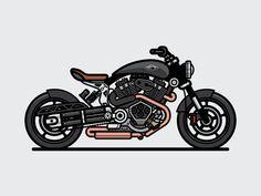 Hellcat designed by IO CASTRO. Motorcycle Tattoos, Motorcycle Design, Motorcycle Style, Bike Design, Bike Sketch, Bike Drawing, Bike Illustration, Concept Motorcycles, Moto Bike