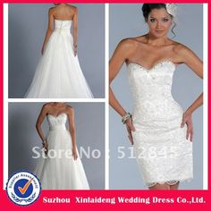 YW-12061476 Elegant Lace Convertible Wedding Dress With Removable Skirt on AliExpress.com. $439.00