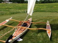 Kayak & Canoe Sailing Rig: Ultra-Light, Easy to Assemble and Launch! Wood Canoe, Wooden Kayak, Wooden Sailboat, Canoe Boat, Canoe And Kayak, Wooden Boats, Kayak Fishing, Fishing Boats, Canoe Camping