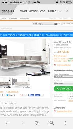 Vivid corner sofa- Denilli