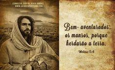 Bem- aventurados os mansos, porque herdarão a terra. Mateus 5:4