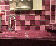 Photo Deco : Salle de bains  Rose    Ambiance Salle de bains