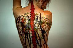 spinal cord watercolors