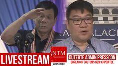 LIVE NOW: Duterte Admin Press Conference with Bureau of Customs Spokespe...