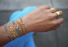 cute bracelets with gold rings