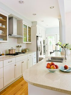 1000 images about new kitchen on pinterest small galley for Turning a galley kitchen into an open kitchen