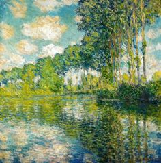 Claude Monet Poplars on the Epte, 1891 . I will forever lovethe work of Monet. I look at a Monet and I cry (in a good way) his work is obviously heaven sent Claude Monet, Renoir, Monet Paintings, Landscape Paintings, Landscapes, Artist Monet, Inspiration Art, Impressionist Paintings, Oil Painting Reproductions