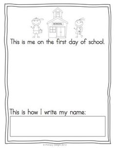 First and last day keepsake - self-portraits and name-writing samples - FREE!