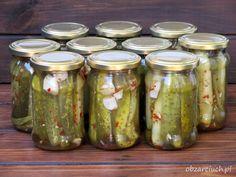 Ogórki po chińsku Kitchen Witch, Pesto, Pickles, Cucumber, Dips, Mason Jars, Dinner, Food, Polish Language