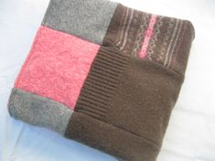 blanket upcycle | Upcycled Felted Wool Sweater Girl's Lap Blanket