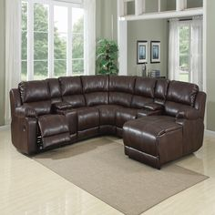 LF Enterprises 1087 Brown | Motion Sectionals | Discount Direct Furniture  And Mattress Gallery
