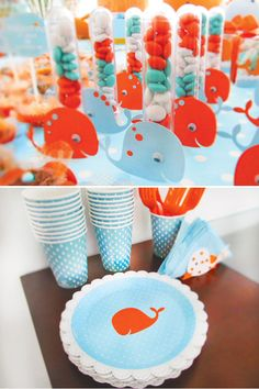 {Cute + Crafty} Whale Themed Birthday Party