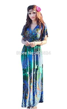 Summer Fashion Brand Silk Sleeveless Peacock Print Bohemia Maxi Dress Wemen Floral Ethnic Style Beach Dress For Holiday Travel