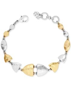 Lucky Brand Two-Tone Link Bracelet - Yellow Link Bracelets, Jewelry Bracelets, Jewelry Watches, Lucky Brand Jewelry, Review Fashion, Gold Bangles, Fashion Watches, Fashion Jewelry, Michigan